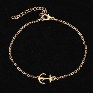 Jewelry - GOLD ANCHOR ANKLE BRACELET